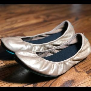 Metallic Gold Tieks Size 8